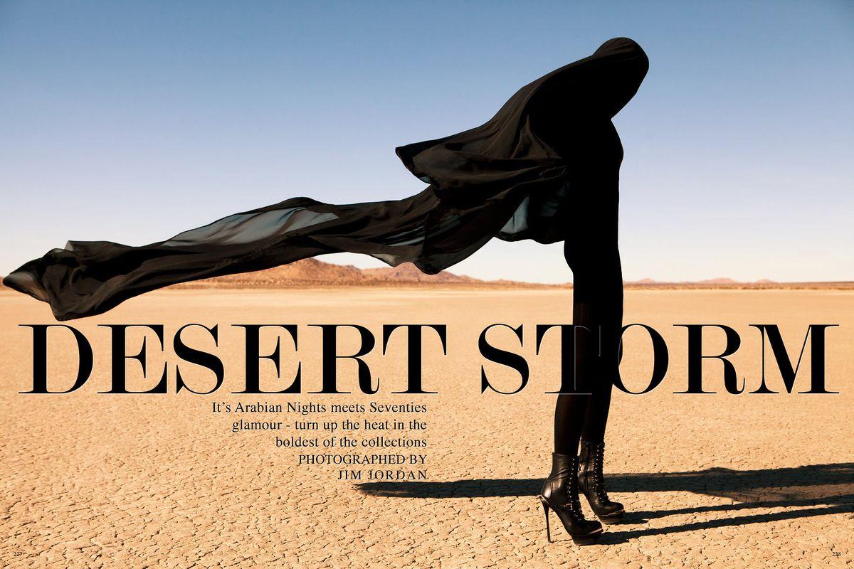 Desert Storm - Model Photographer New York
