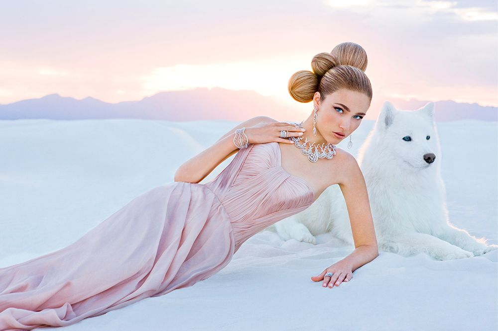 White Sands Bridal Girl in Desert