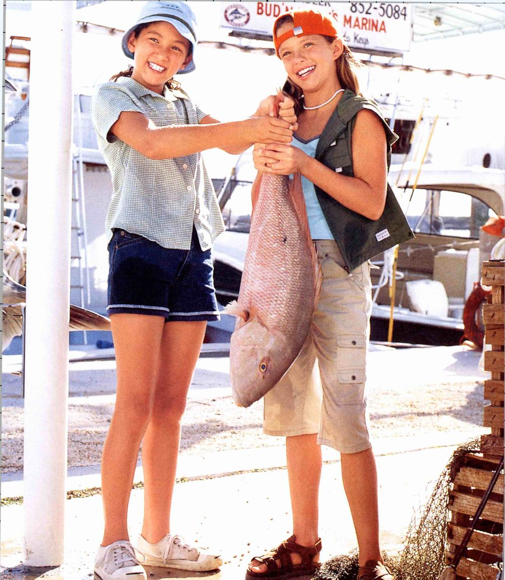 American Girl Girls with Fish