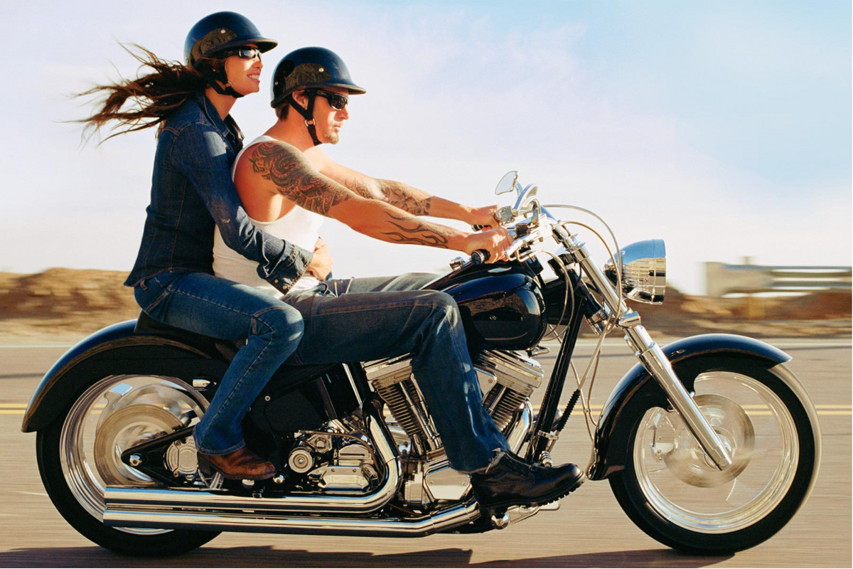 Couple on  Motorcycle - Automotive Photography