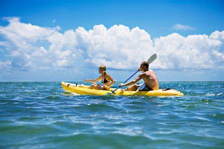 Couple Kayaking in Ocean - Travel Photographer New York