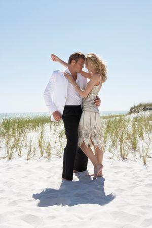 Florida Beach Wedding Couple - Engagement Photographer Los Angeles