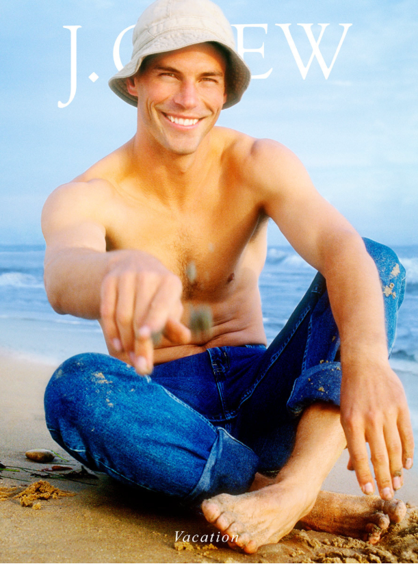 J.Crew Vacation Magazine Cover Man on BEach