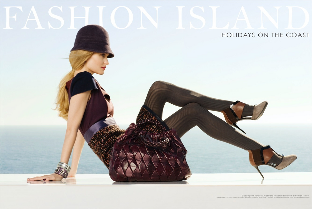 Fashion Island Laguna Beach Advertisement