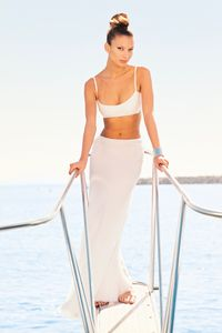 Marie Claire Girl on Boat Marina Del Rey