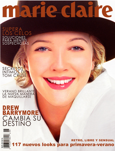 Drew BarryMore Marie Claire Magazine Cover