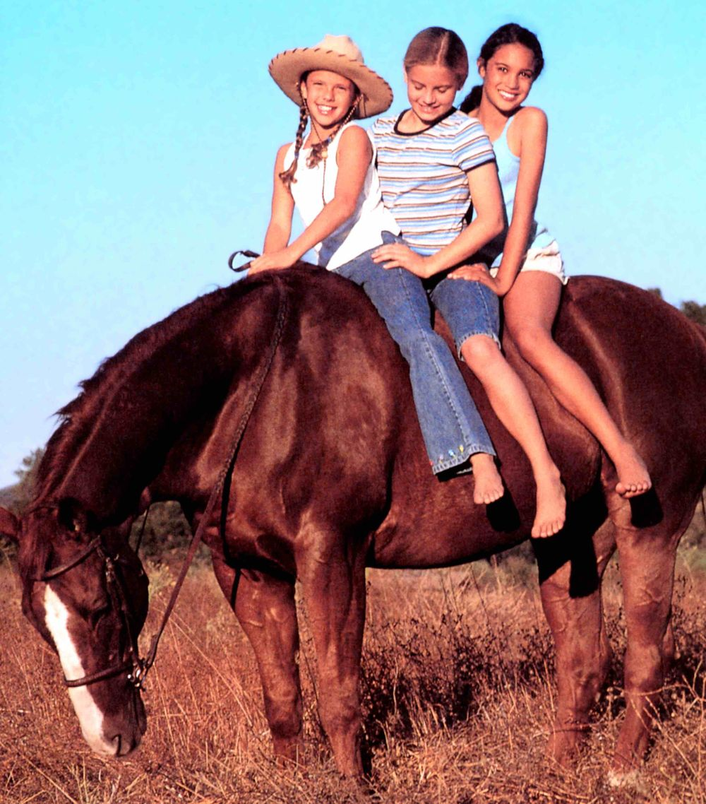 American Girl Girls on Horse