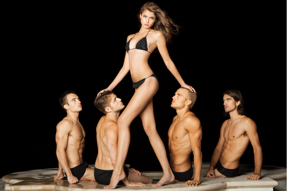 Taylor Hill with Men at Night