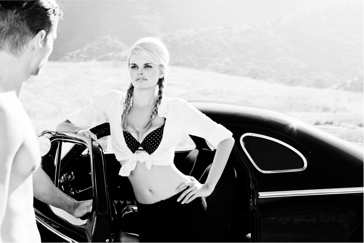 Model with Car Photography Los Angeles