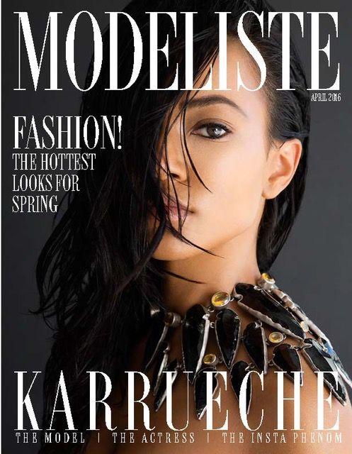 Modeliste Magazine Cover Karreuche