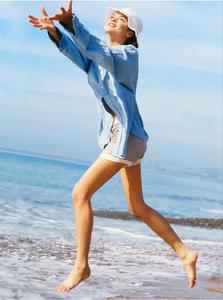 J.Crew Girl on Beach