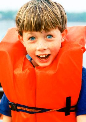 Eddie Bauer Kid in Lifevest