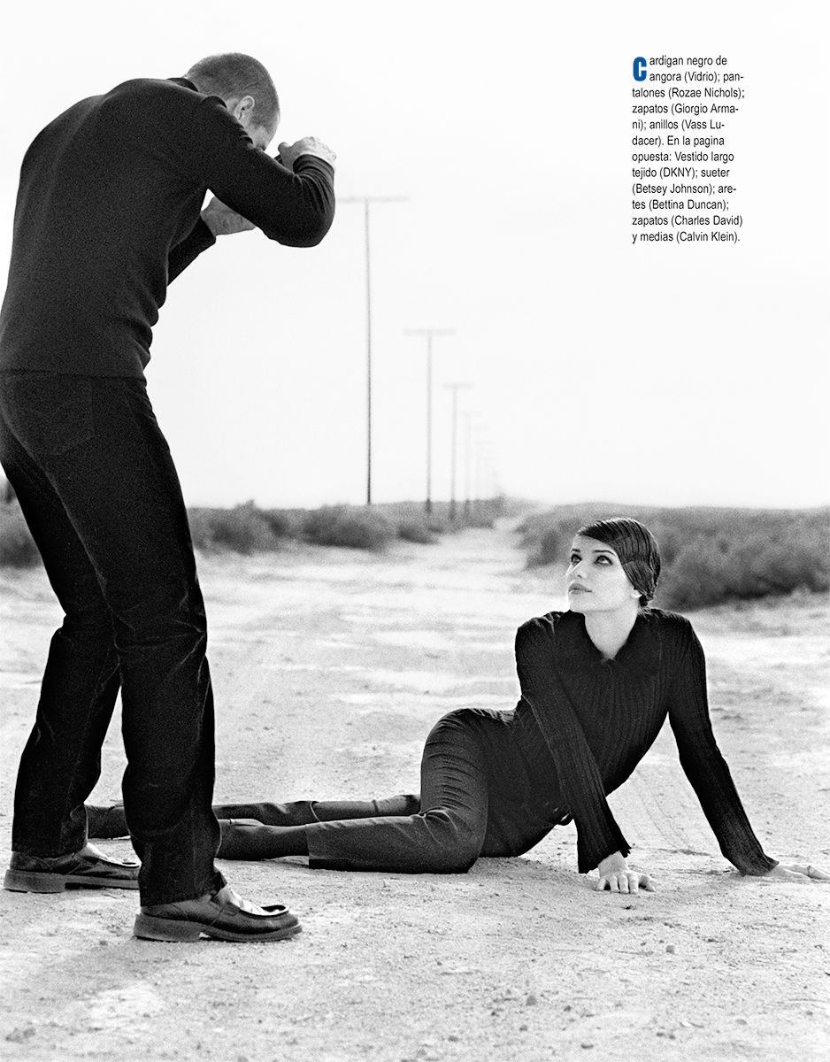 Ivana Milicevic Black and White Desert Photoshoot