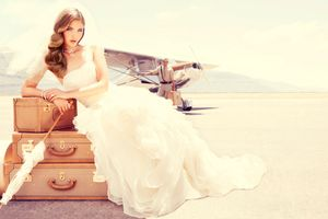 White Sands Airport Bride
