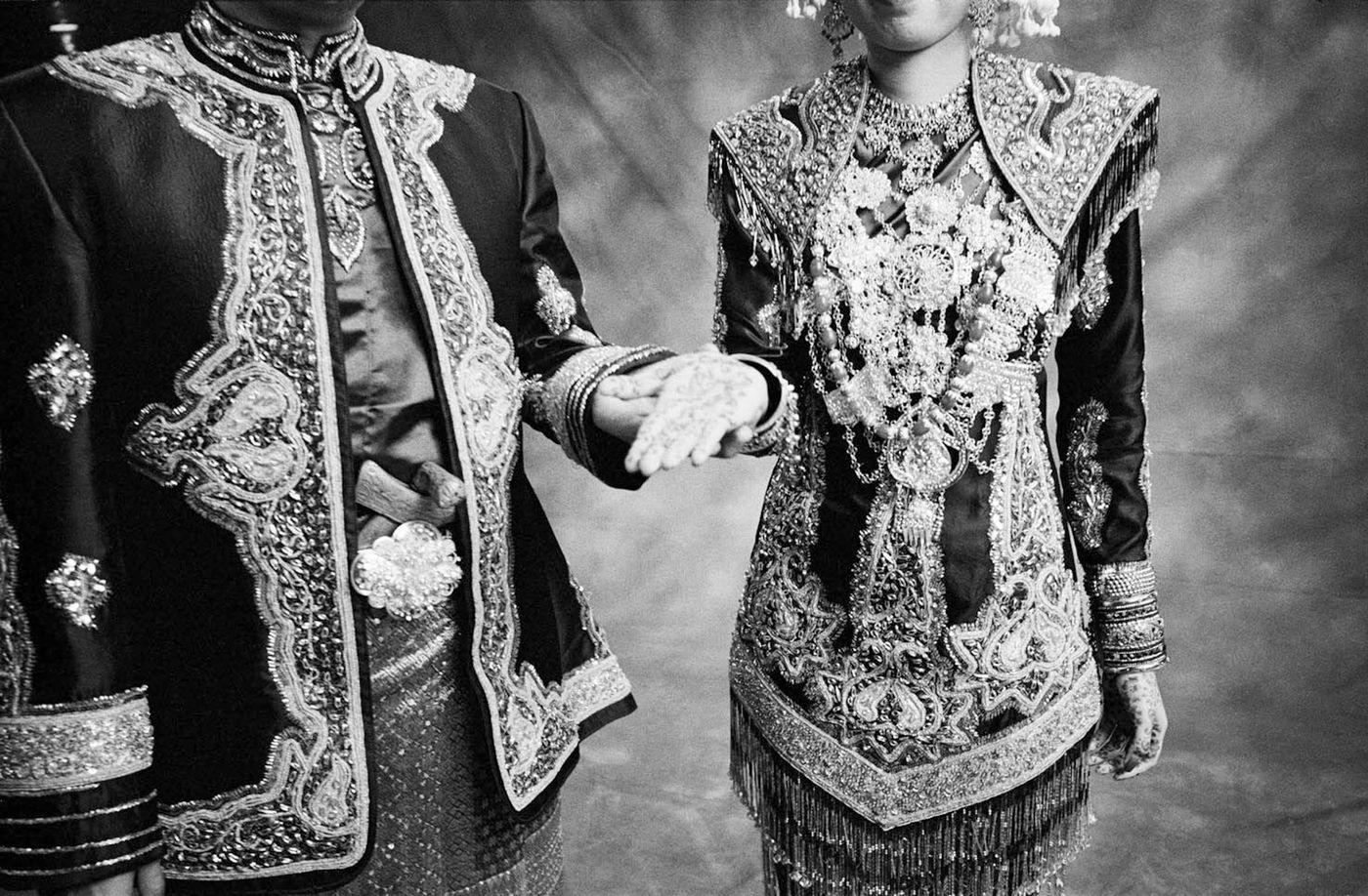 Bernard and Hilda in their wedding day