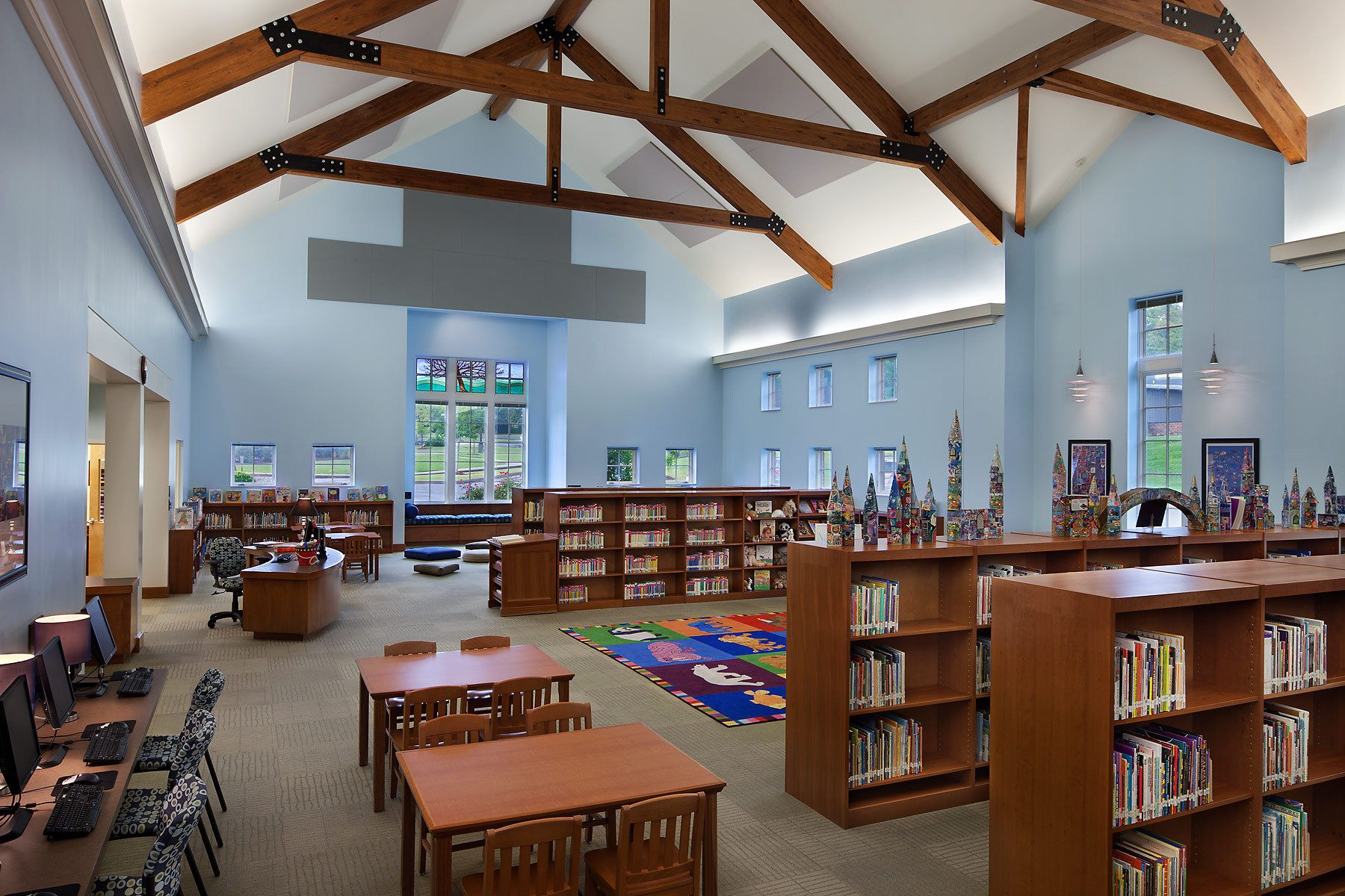 Oak Hill School Library at First Presbyterian Church | Nashville, TNArchitect - Street Dixon Rick Architecture, PLC