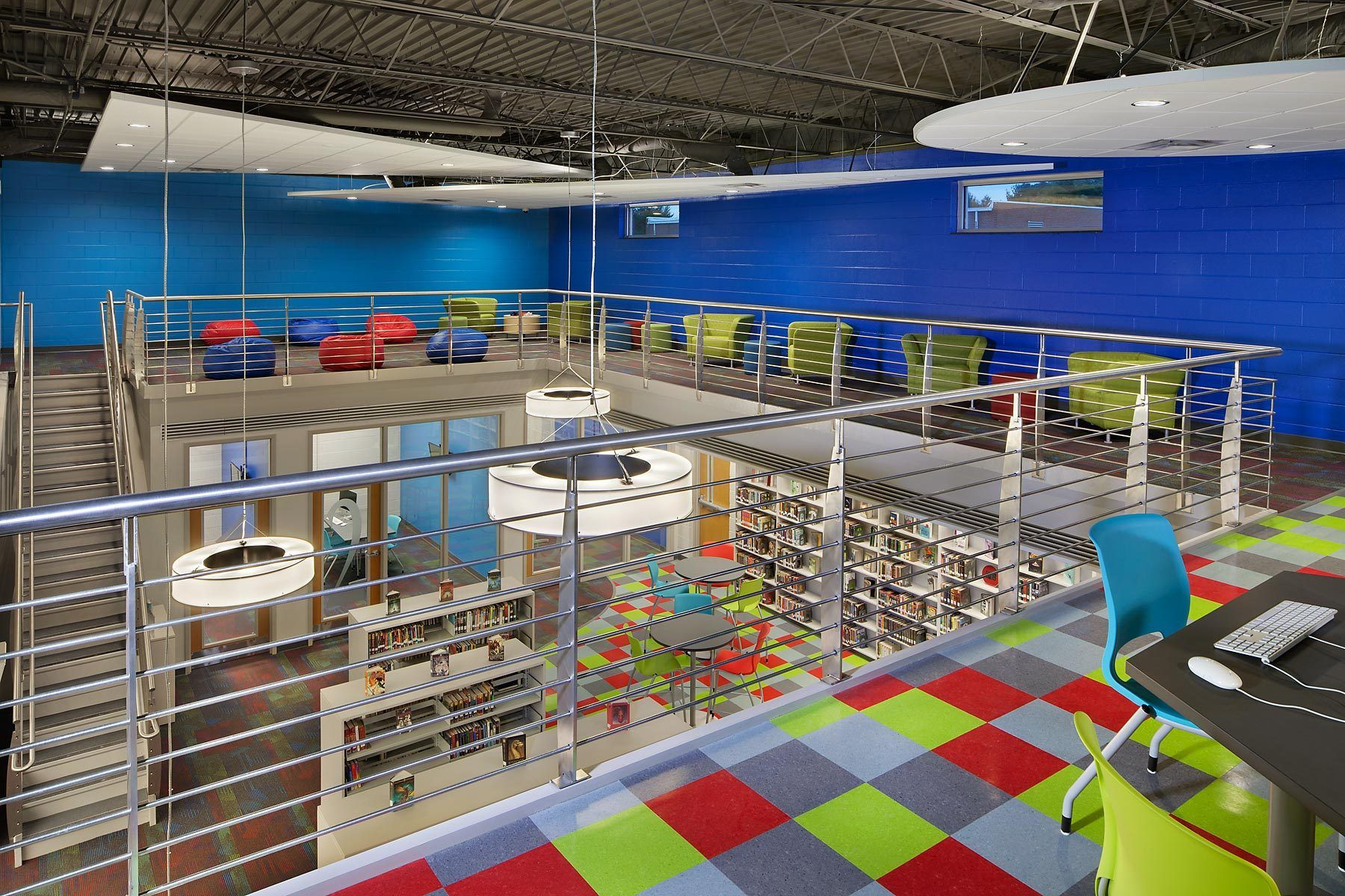 Dupont Tyler Middle School Library Renovation | Hermitage, TNArchitect - Street Dixon Rick Architecture, PLC