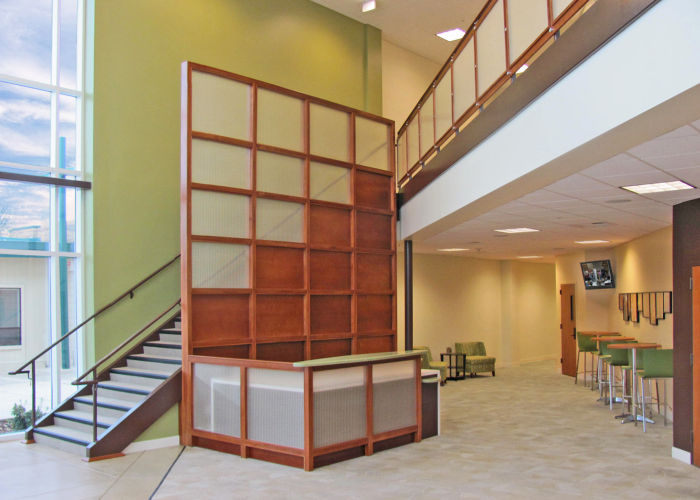 Oak Park Christian Center - Sanctuary/Lobby . Pleasant Hill, CA . 2009Elevate Studio: Architectural Design, Furniture Specification