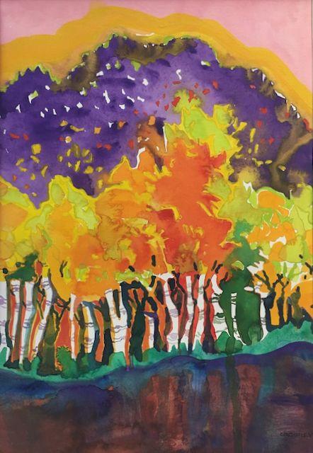 "#2294 ""Birch Trees On The 'Kanc' New Hampshire"""