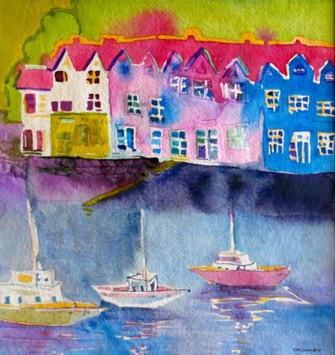 "#2038  ""Portree, Isle of Skye II""  SOLD"