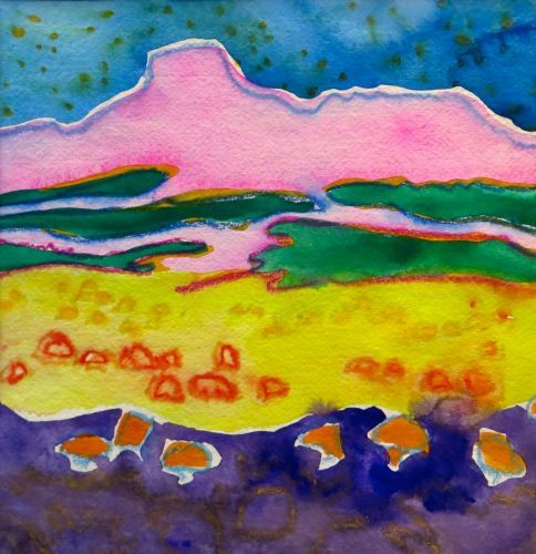 "#1925  ""Evening at Ghost Ranch"""