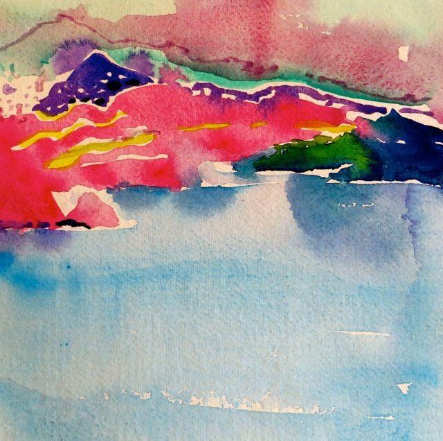 "#1817  ""Santorini's Pink Moment"""