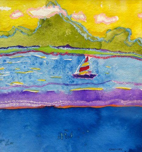 "#1947  ""View of Bora Bora"""