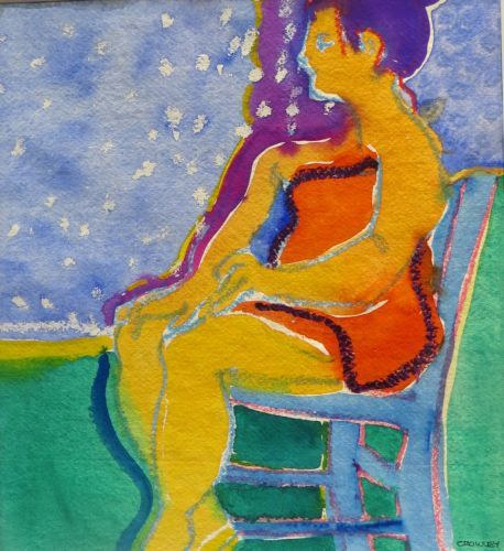 """#1956  """"Blue Chair"""""""
