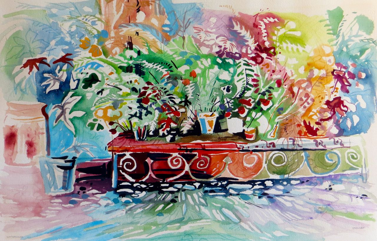 "#2112 ""Flower Shop Bench"""