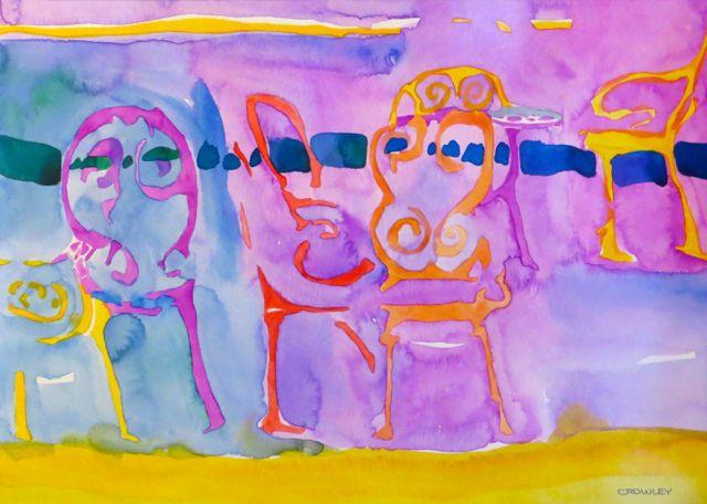 """#2061  """"Santa Fe New Mexico Chairs"""""""