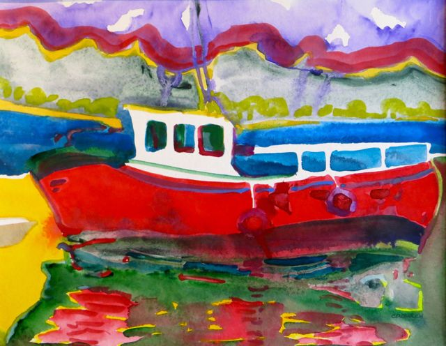 """#2043  """"Waiting for the Tide""""  SOLD"""