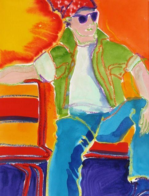 """#1857  """"Red Chair Lean"""""""
