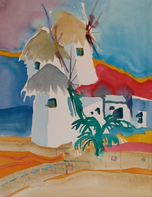 "#1866 ""Summer in Mykonos""  SOLD"