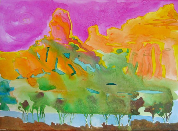 "#1520 ""Sedona Chimney"" SOLD"