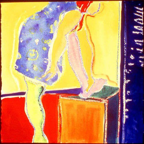 """Pink Leg"" (framed work size 21"" x21"")"