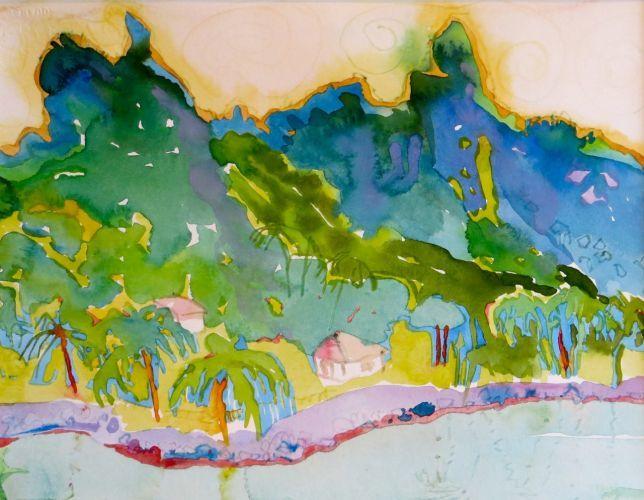 "#1905  ""Bora Bora's Misty Peaks"""