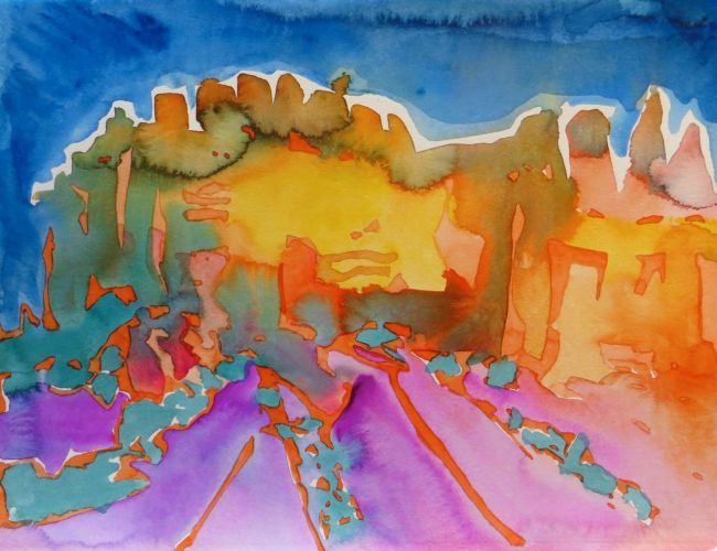 "#1915  ""Ghost Ranch Afternoon Light"""