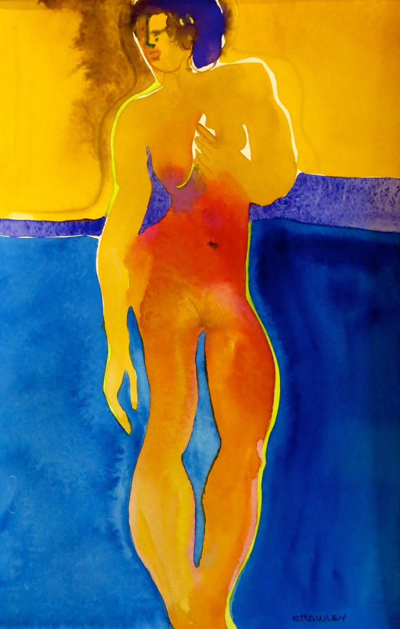 "#2231  ""Figure With Blue"""