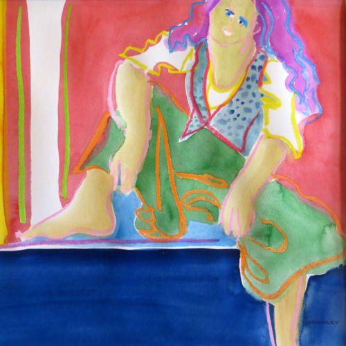 """#2040  """"Sister in Green Skirt"""""""