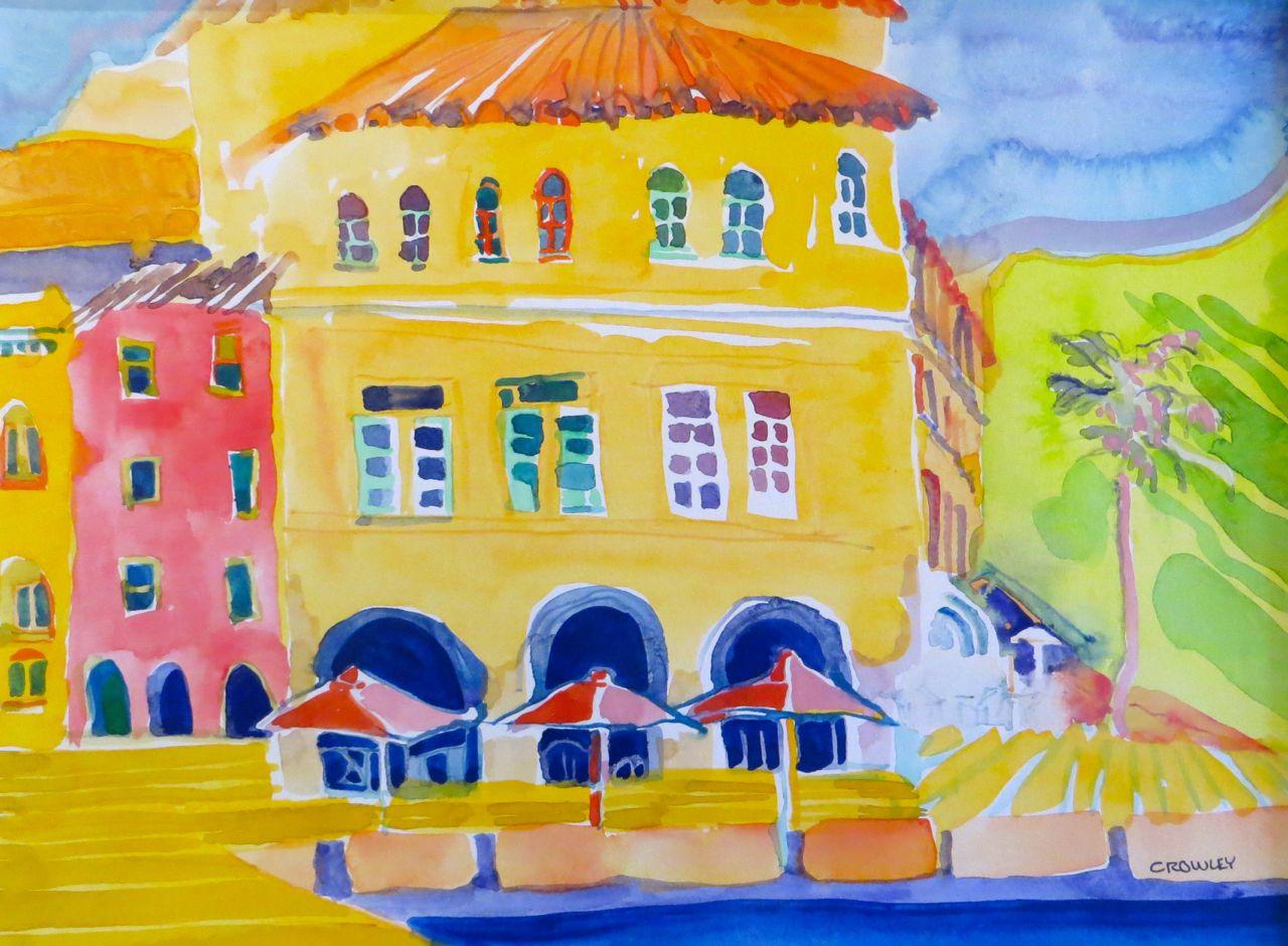 "#2216  ""Evening at Riva, Del Garda, Italy"""