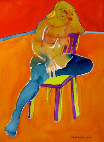 "#2060  ""Purple & Green Chair"""