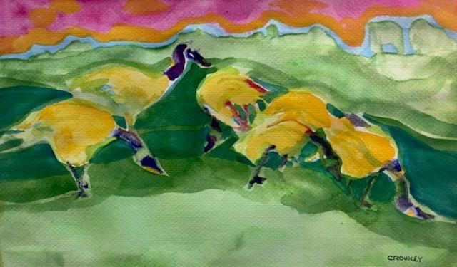 "#2272  ""Shoreline  Geese"""