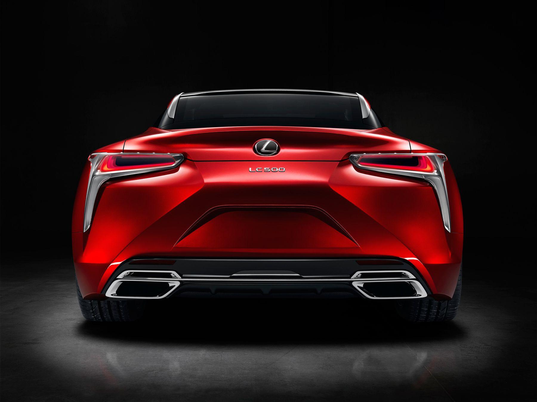 Lexus LC500 rear