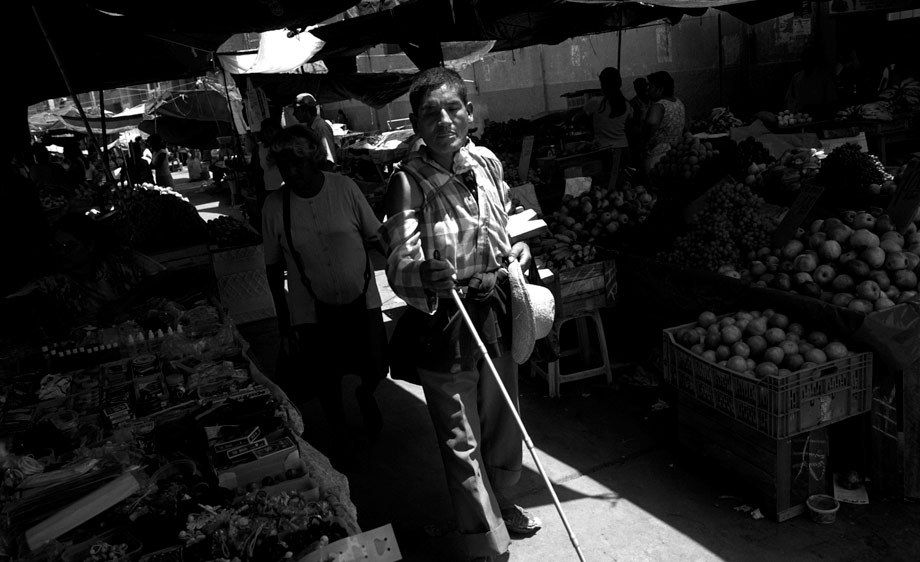 BLIND MAN AT MARKET