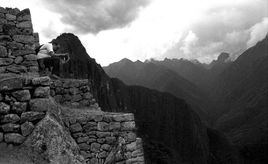 MAN AT MACHU PICCHU
