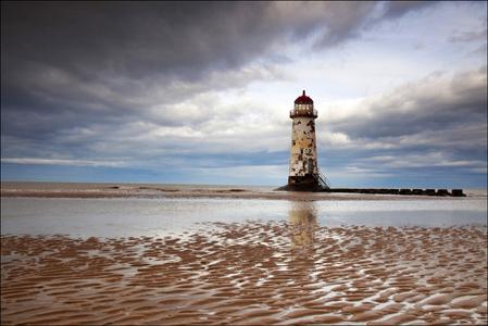 Talacre Lighthouse, Flintshire, North Wales