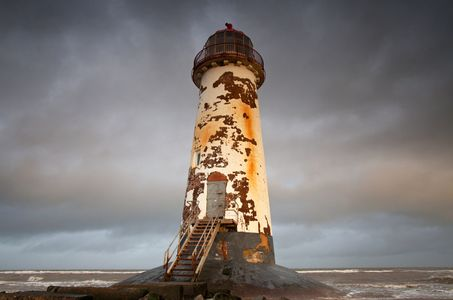 Storm Setting in at Talacre Lighthouse