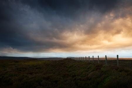 Sunset on the Denbigh Moors