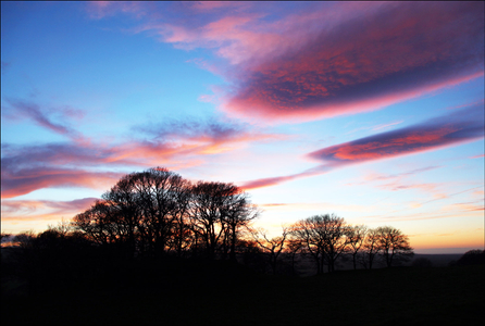 Sunset in the Vale of Clwyd, Ruthin North Wales