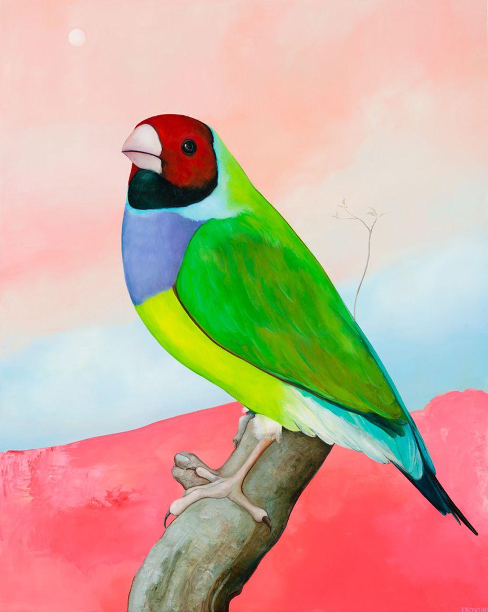 Rainforest Bird (Red Landscape)